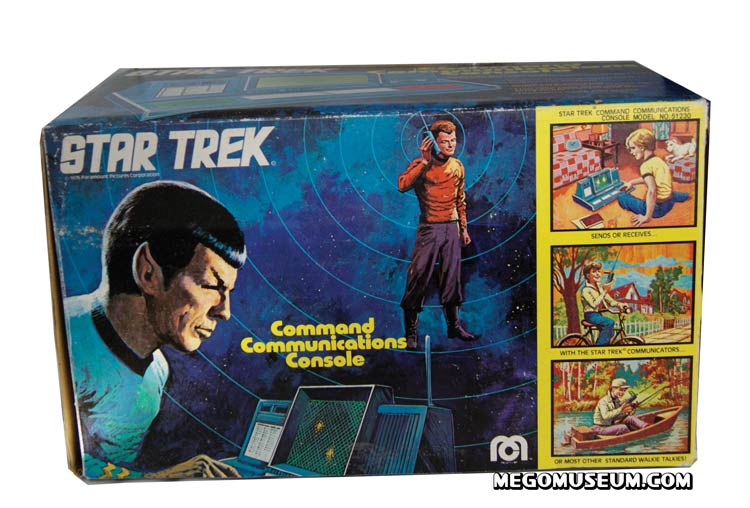 The Star Trek Command Console was designed to interact with the Mego Communicators