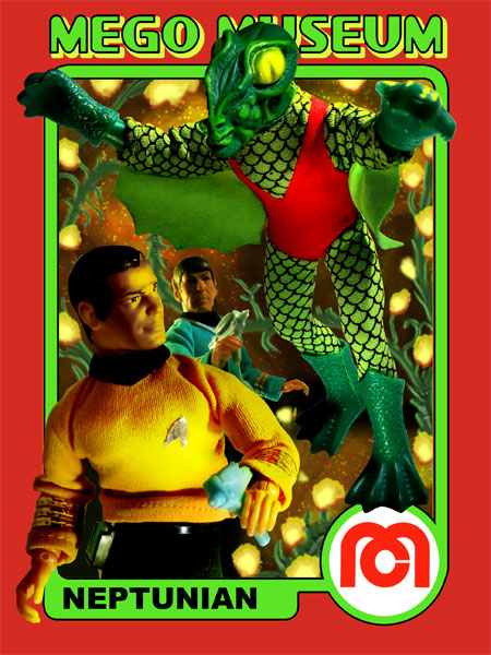 Mego Neptunian did not appear in any of the Star Trek series but is rather a creation of Mego