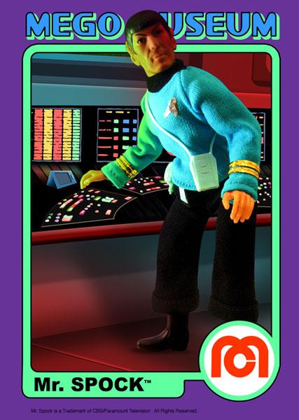 mego mister spock trading card