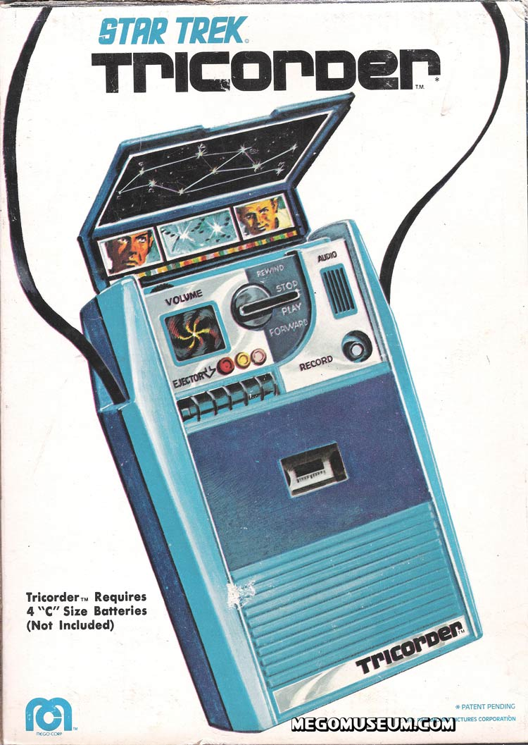 Back of the Mego Tricorder Box