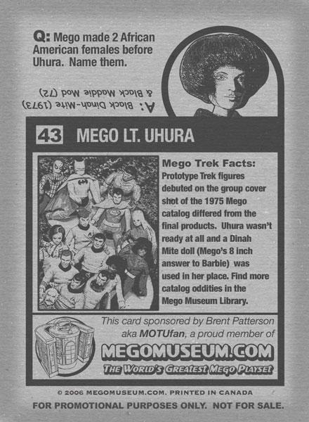 mego uhura card