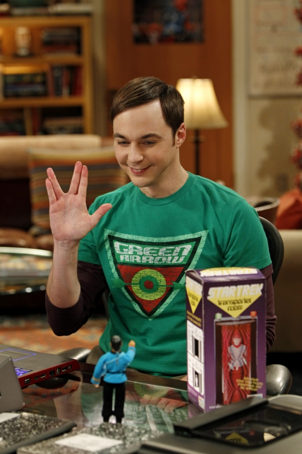 Mego Star Trek Transporter on the Big Bang Theory