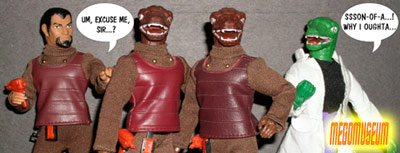Mego Gorn TUnics have a variety of variatons