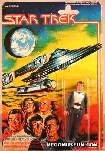 Mego Captain Kirk on Grand Toys Card
