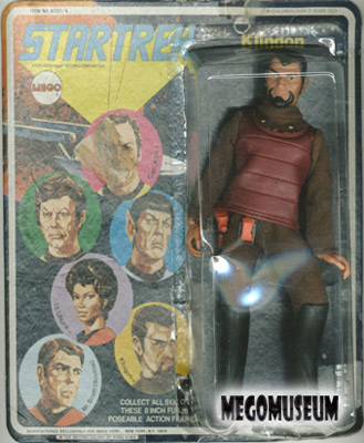 Mego Captain Kirk on a later blank card