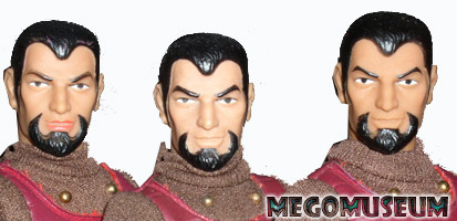 Differences of detail on Mego Klingon heads