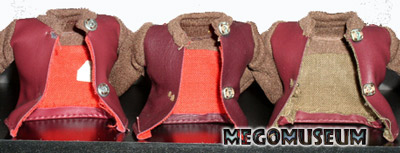 Differences of detail on Mego Klingon Tunicss