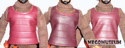 Differences of detail on Mego Klingon outfits