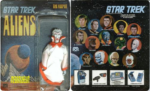 Mego Keeper on a second series Star Trek Aliens card