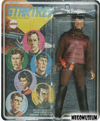 Mego Captain Klingon on a Six Face card, white lettering