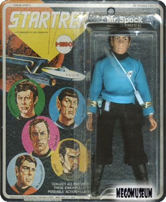 Mego Spock on an early Five Face Card