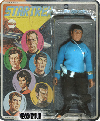 Mego Spock on a later blank card