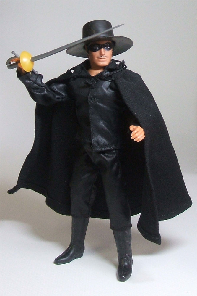 Zorro's cape is made from a different material than the rest of his ...
