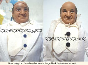 Boss Hogg varations include the colour of his vest buttons, wow eh?