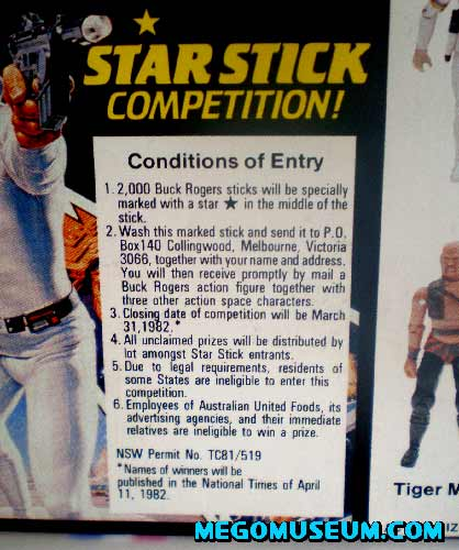 The Buck Rogers action figure contest from Australia