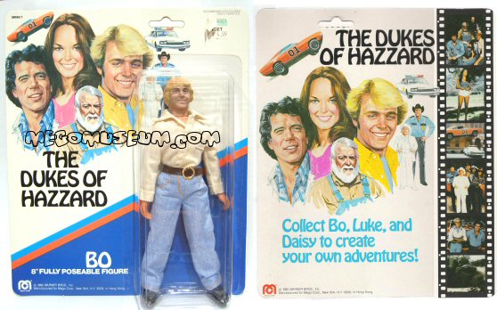 Dukes of Hazzard mego packaging