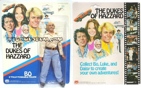 Dukes of Hazzard mego packaging