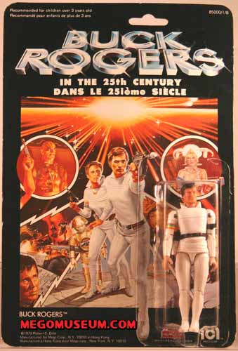 Mego Buck Rogers on a Canadian Grand Toys Card