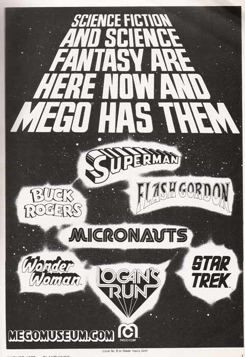 the ad Mego used to promote their attaining the Logans Run license