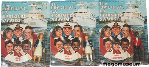 Grand Toys Love Boat set, Note that Isaac is called Le Barman in French