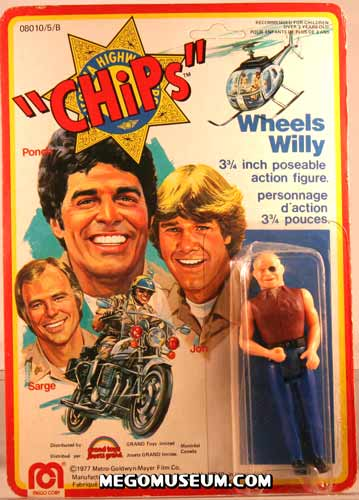 Mego Chips carded Wheels Willy