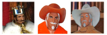 One of the most used Mego heads, the Kit Carson head has many names in Mego Lore