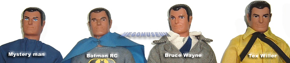 One of the most used Mego heads, the Tex Willer head has many names in Mego Lore