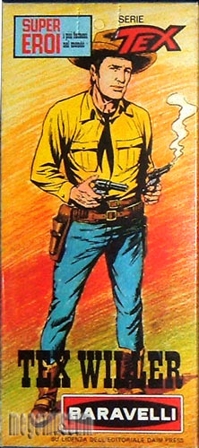 The Tex Willer Box box is easily one of the most striking in all of Mego's lines