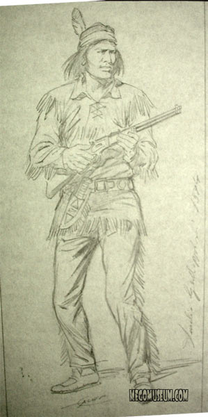 The original Tex Willer box Art from the collection of Rudy Zerbi