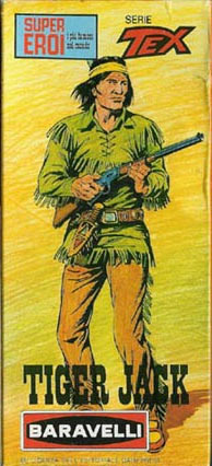 The Tex Willer packaging is easily one of the most striking in all of Mego's lines