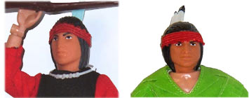One of the most used Mego heads, the Tiger Jack head was known as Cochise here in the states