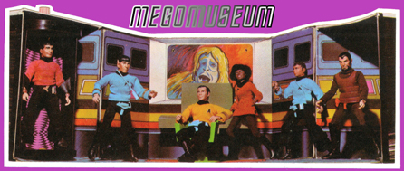 "Prototype of the Enterprise Playset from the back of a ""6-face"" card."
