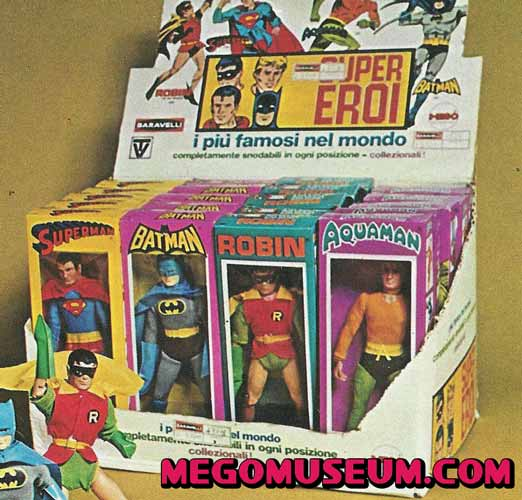 Mego superheroes display box