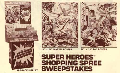 1980 mego display for worlds greatest superheroes