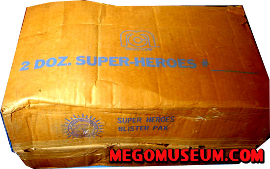 Mego Shipping Box for worlds greatest superheroes