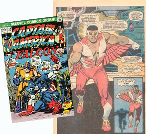 Falcon and CAPTAIN AMERICA SHARED COMIC BOOK TIME IN THE EARLY 1970S