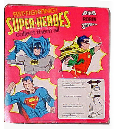 Palitoy (UK) Mego Carded Fist Fighting Batman's card shows how creative the company was.