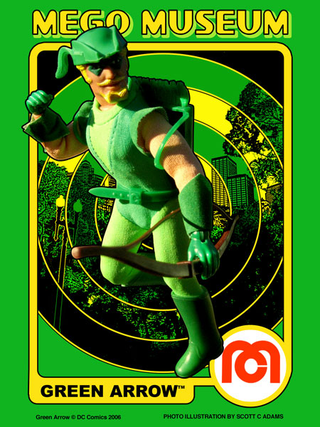 Green Arrow Mego Museum Trading Card Art