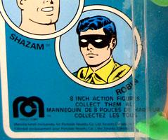 1977 Parkdale Novelty Robin Mego card detail french