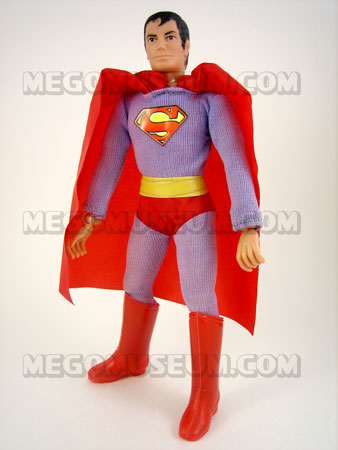 Superman Mego with purple costume