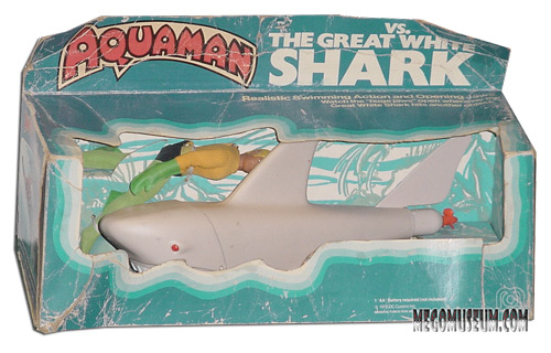 Mego Aquaman VS the Great White Shark Box