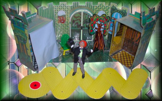 The Wizard of Oz and his Emerald City Playset