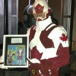Captain Canuck and the upcoming 8 inch action figure from Odeon Toys.