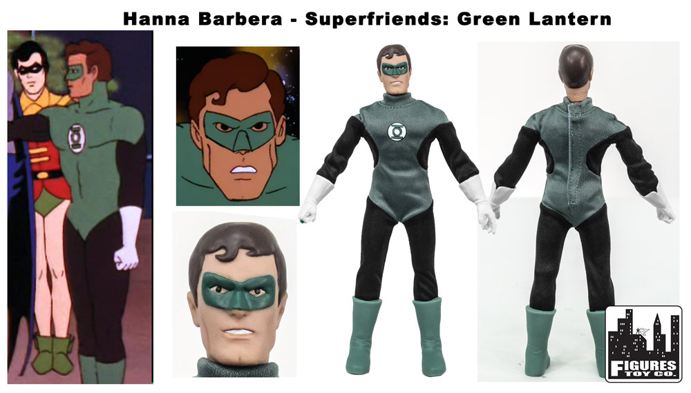 Mego Museum  Look at Figures Toy Company Super Friends Green Lanter. Mego