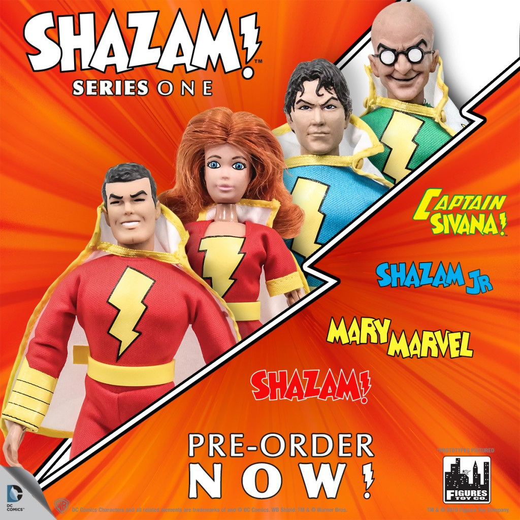 Shazam! Series one by Figures Toy Company in Mego style. Megomuseum.com