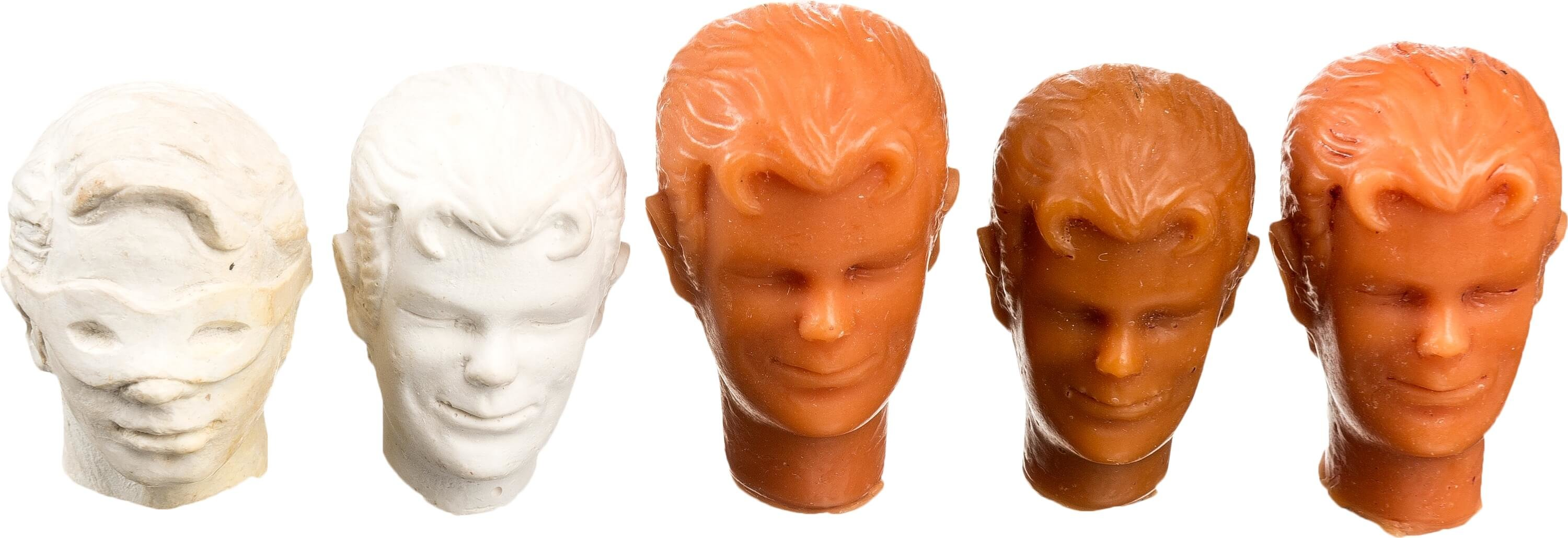 Original mego head sculpt prototype for Robin from the Mego World's Greatest Superheroes.