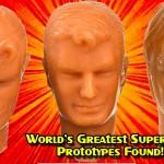 Mego Prototype heads for the World's Greatest Superheros