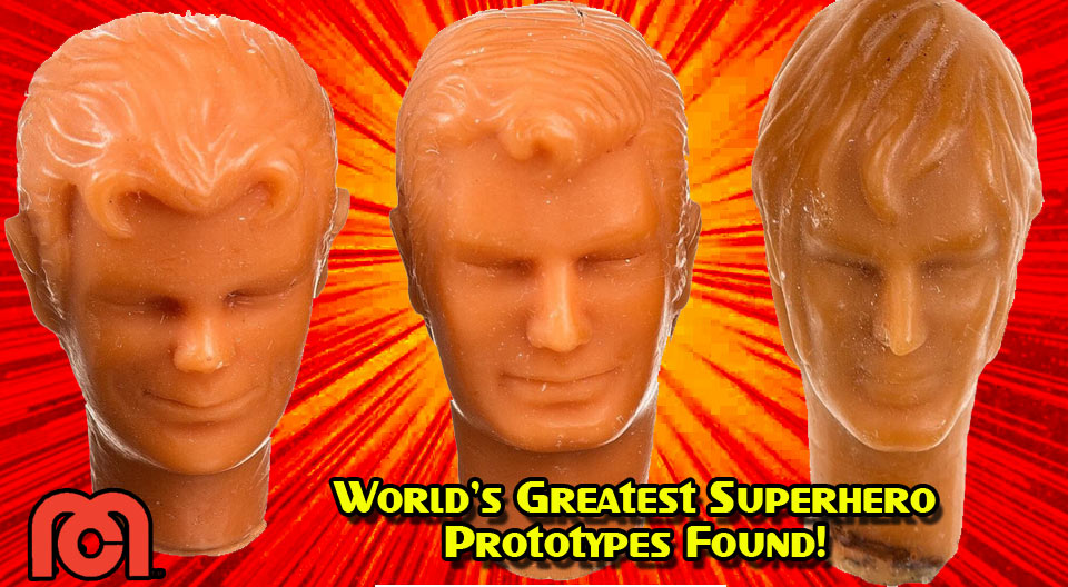 Mego Prototype heads for the World's Greatest Superheros
