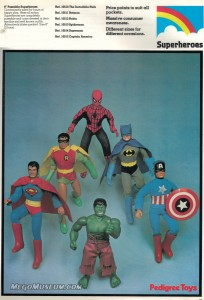 1980 Pedigree Toys Catalog World's Greatest Superheroes