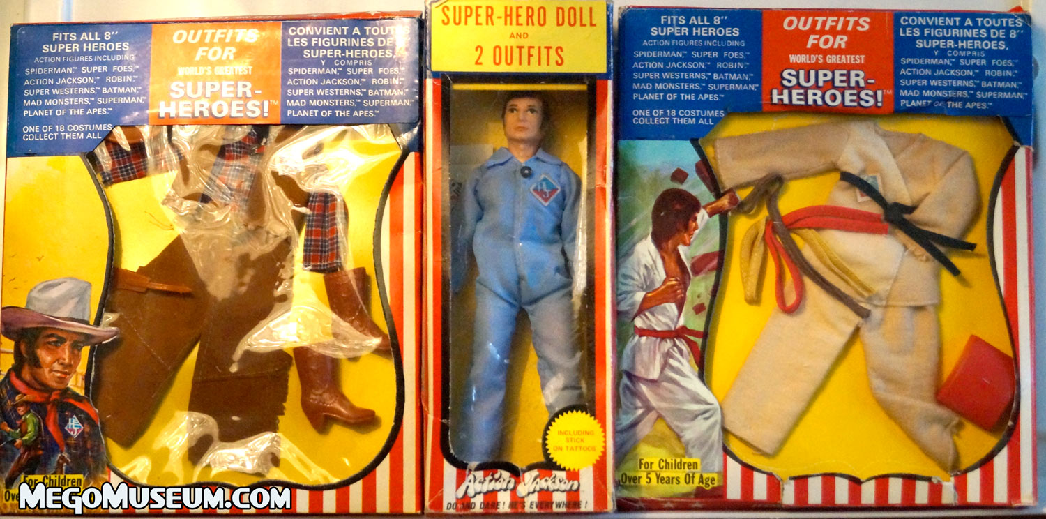 Mego Action Jackson bundle set from parkdale Novelty Canada.